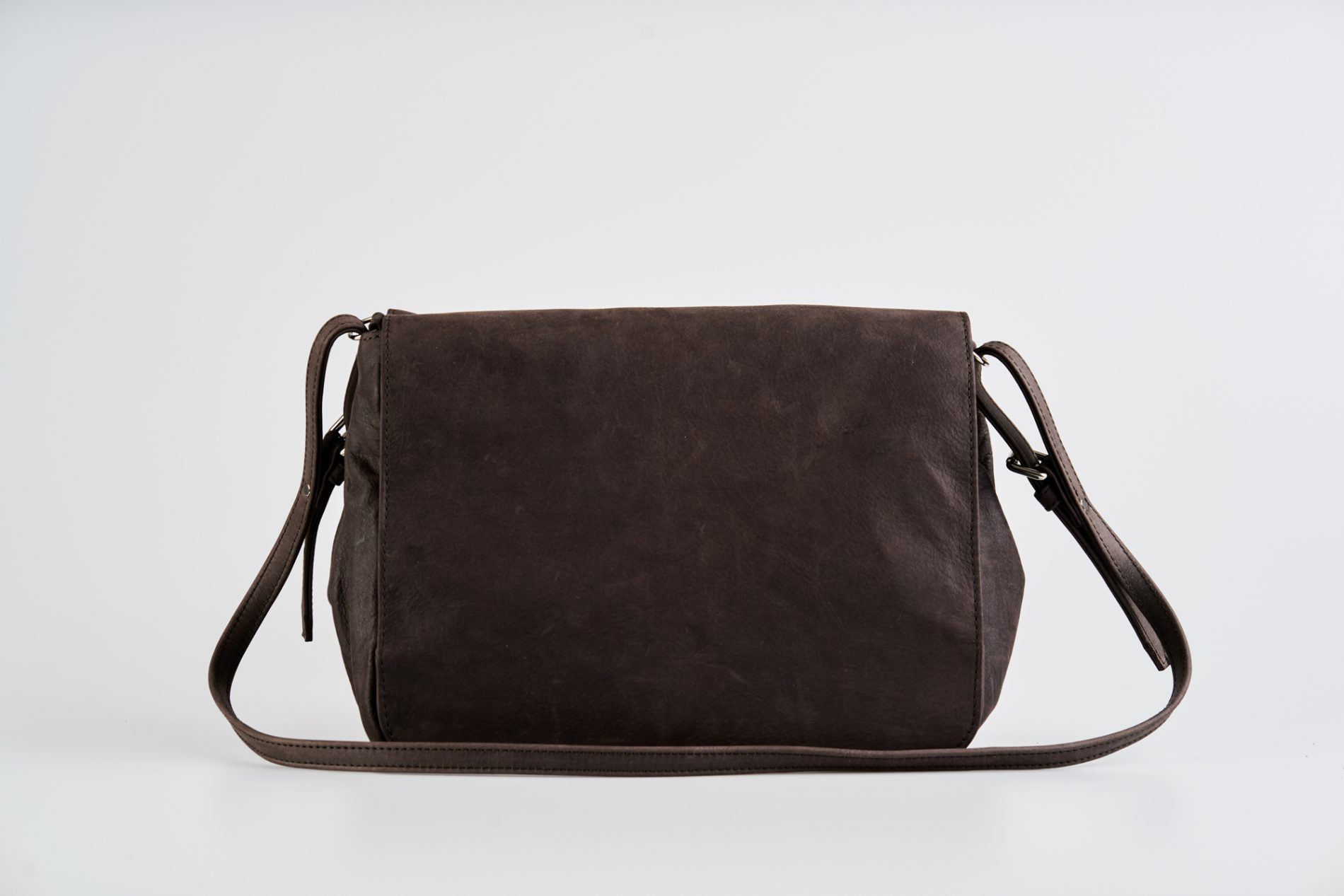 456c285fcf41 Brown Vegetable Tanned Leather Shoulder Bag | Ina Koelln