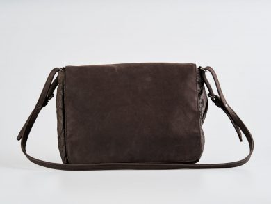 Brown pinatex women's shoulder bag Fair trade