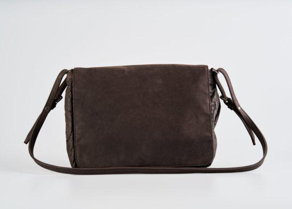 Brown pinatex women's shoulder bag Fair trade