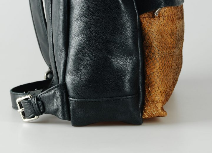 salmon leather Backpack