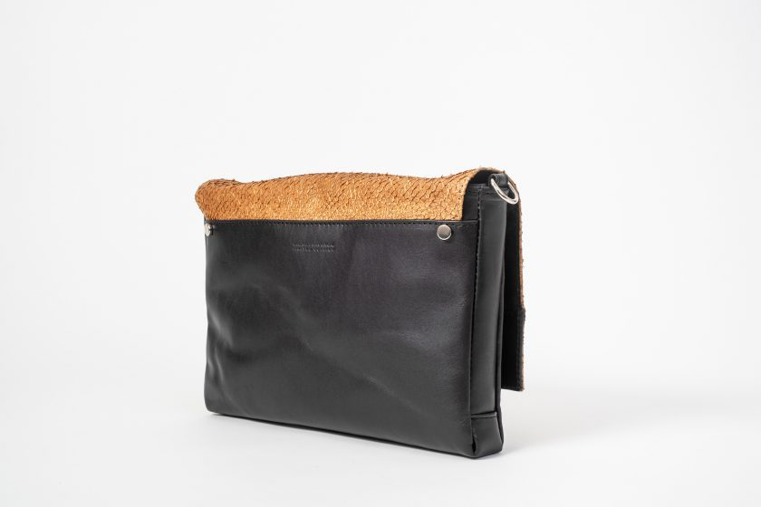 vegetable tanned salmon leather Clutch